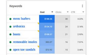 Keyword Report in PPC Campaign