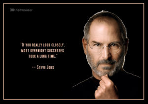Steve Jobs Quote about Overnight Success